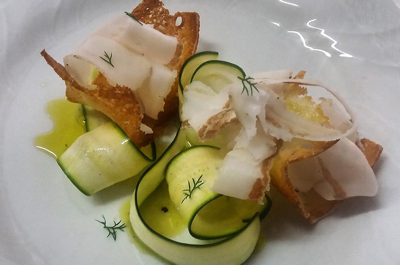 catering cerinella in toscana - carpaccio di lardo e zucchine - Copia (2)
