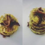 catering cerinella in toscana - tortino di frittata al tartufo con cipolla caramellata